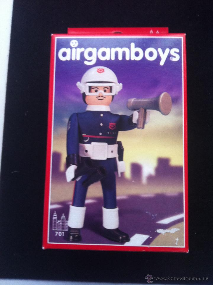 AIRGAMBOYS. EN CAJA. COMISARIO DE POLICIA. SIN ABRIR (Juguetes - Figuras de Acción - Airgam Boys)