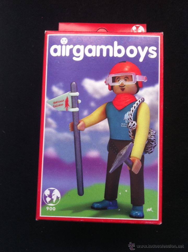 AIRGAMBOYS. EN CAJA. ESCALADOR MONTAÑERO. SIN ABRIR (Juguetes - Figuras de Acción - Airgam Boys)