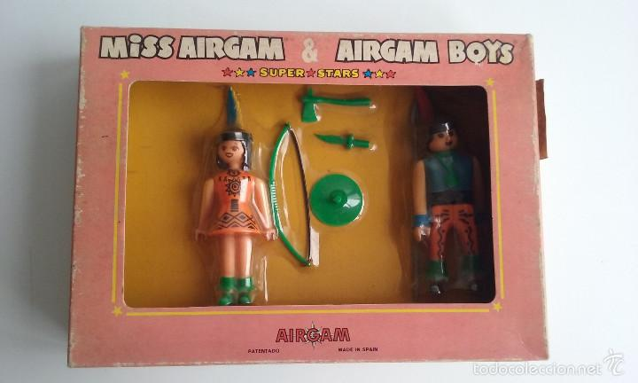 SET AIRGAM BOYS/MISS AIRGAM & AIRGAM BOYS INDIOS. (Juguetes - Figuras de Acción - Airgam Boys)