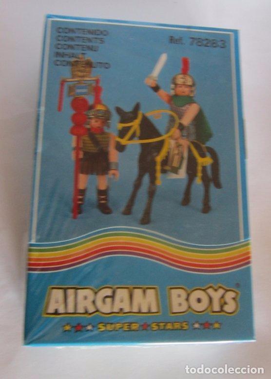 AIRGAM BOYS 2 ROMANOS + CABALLO REF 78283, EN CAJA. CC (Juguetes - Figuras de Acción - Airgam Boys)