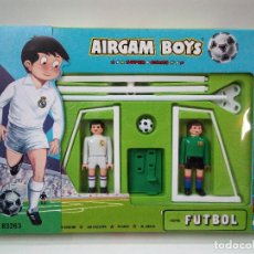 Airgam Boys: AIRGAM BOYS SERIE FUTBOL . REF 83263 REAL MADRID - BARCELONA . CAJA ORIGINAL AÑOS 80. Lote 80259497