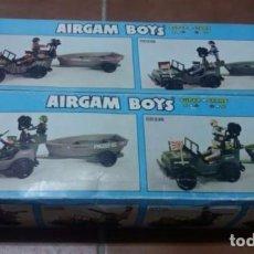 Airgam Boys: AIRGAMBOYS; 2 CAJAS GRANDES Y VACIAS AIRGAM DE JEEP CON REMOLQUE. Lote 94554287