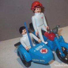 Airgam Boys: AIRGAM BOYS MOTO SIDECAR CRUZ ROJA COMPLETA NUEVA,BARATA. Lote 124928039
