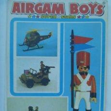 Airgam Boys: HOJA CON PUBLICIDAD DE LOS AIRGAM BOYS . SUPER STARS. Lote 127231875