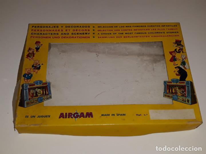 Airgam Boys: AIRGAM AIRGAMBOYS : ANTIGUA CAJA FIGURAS TEATRO AIRGAM - OBRA EL GATO CON BOTAS REF. 908 - AÑO 1969 - Foto 6 - 133038510