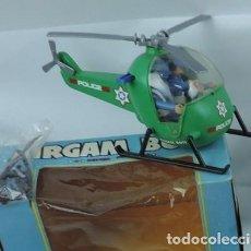 Airgam Boys: HELICOTERO DE AIRGAM, AIRGAMBOYS, REF 00212, HELICOPTERO POLICIA COMPLETO, CON DOS FIGURAS, AL SACAR. Lote 133286378