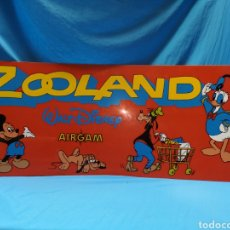 Airgam Boys: ANTIGUO CARTEL ZOOLAND WALT DISNEY AIRGAM. IDEAL COLECCIONISTAS - DIFÍCIL. Lote 142928949