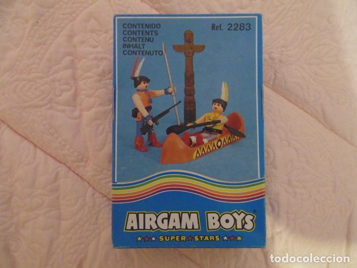 AIRGAM BOYS AIRGAMBOYS - SERIE OESTE INDIOS - REFERENCIA 2283 - CANOA, TÓTEM (Juguetes - Figuras de Acción - Airgam Boys)