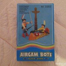 Airgam Boys: AIRGAM BOYS AIRGAMBOYS - SERIE OESTE INDIOS - REFERENCIA 2283 - CANOA, TÓTEM. Lote 145776058