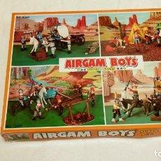Airgam Boys: AIRGAM BOYS REF. 2602 3 INDIOS Y 3 POLICIAS MONTADA DEL CANADA (INCOMPLETA, MIRAR FOTOS). Lote 155233365
