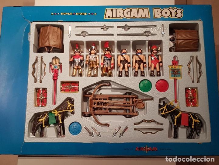MEGA CAJA VINTAGE AIRGAM BOYS ROMANOS Y GLADIADORES AIRGAMBOYS (Juguetes - Figuras de Acción - Airgam Boys)