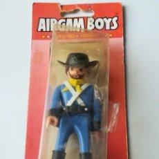 Airgam Boys: FIGURA AIRGAM REF. 03100 CON BLISTER - SERIE OESTE - SARGENTO 7º DE CABALLERÍA. Lote 160366982
