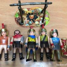 Airgam Boys: 5 FIGURAS AIRGAM BOYS + FOGATA LOTE CON 4 SOLDADOS ROMANOS + UN GLADIADOR. Lote 168831892