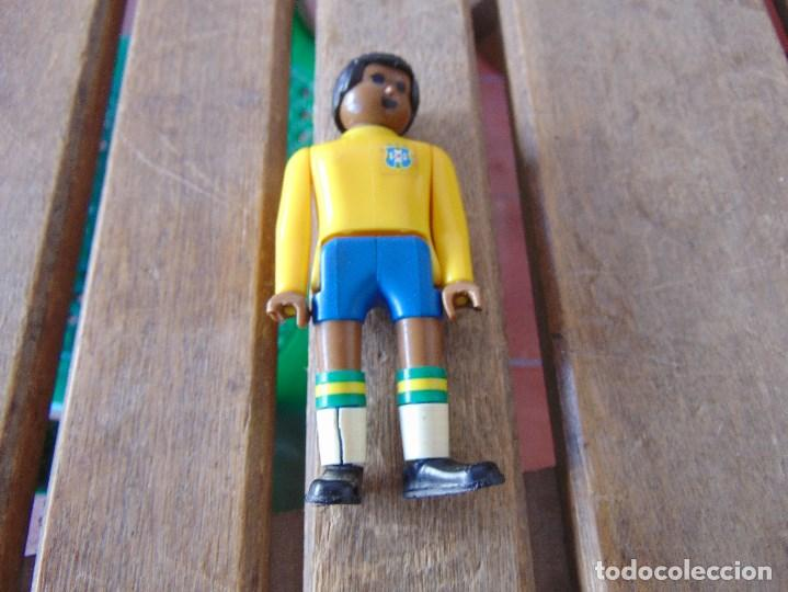 AIRGAM BOYS JUGADOR NEGRO DE FUTBOL SELECCION DE BRASIL (Juguetes - Figuras de Acción - Airgam Boys)