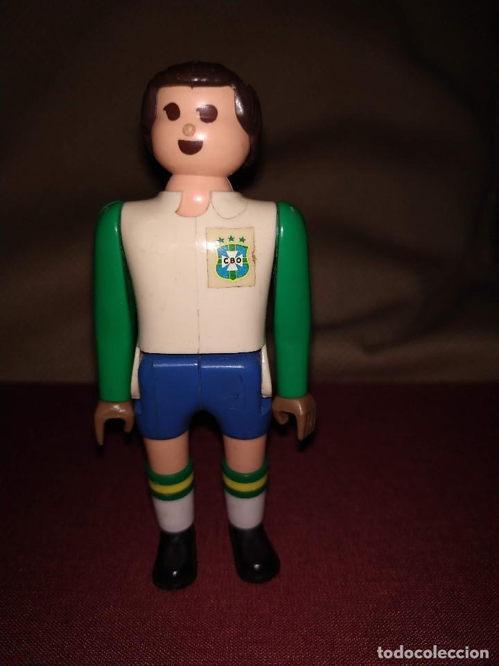 Airgam Boys: Futbolista de Brasil. Muñeco Airgam Boys jugador de fútbol, portero, de la selección brasileña. - Foto 3 - 171439185