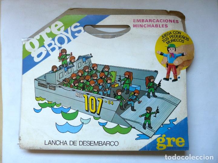 GRE BOYS EMBARCACIONES HINCHABLES - LANCHA DE DESMBARCO NAVY 10-C4 - NUEVA - A ESTRENAR (Juguetes - Figuras de Acción - Airgam Boys)