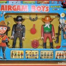 Airgam Boys: HOLKANK - AIRGAM BOYS AIRGAMBOYS - CAJA COW BOYS VAQUEROS SHERIFF REF. 01201 1976 RAREZA!!. Lote 175521315