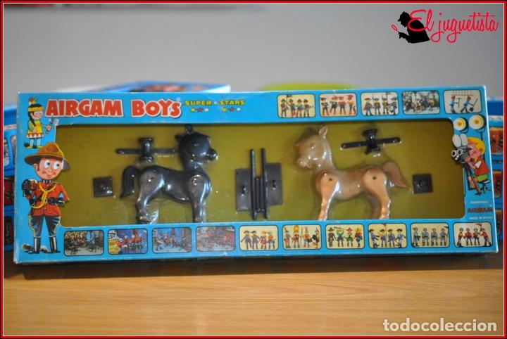 HOLKANK - AIRGAM BOYS AIRGAMBOYS - CAJA BURROS CABALLOS VALLAS RODEO 00021 RAREZA!! (Juguetes - Figuras de Acción - Airgam Boys)
