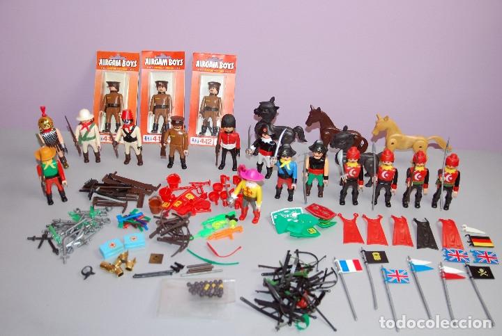 SUPERLOTAZO 2 AIRGAMBOYS: AIRGAM BOYS, ARMAS, SOMBREROS, BANDERAS, BLÍSTERS, PORTEADOR, CAPAS.... (Juguetes - Figuras de Acción - Airgam Boys)