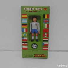 Airgam Boys: AIRGAM BOYS FUTBOLISTA EN CAJA ORIGINAL SIN JUGAR, INGLATERRA REF 06, AIRGAMBOYS, MADE IN SPAIN. Lote 190736366