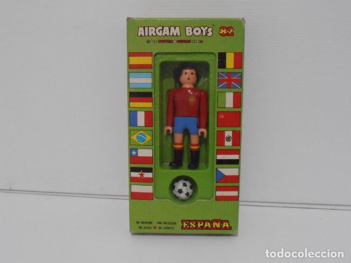 AIRGAM BOYS FUTBOLISTA EN CAJA ORIGINAL SIN JUGAR, ESPAÑA REF 01, AIRGAMBOYS, MADE IN SPAIN (Juguetes - Figuras de Acción - Airgam Boys)