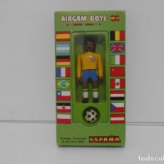 Airgam Boys: AIRGAM BOYS FUTBOLISTA EN CAJA ORIGINAL SIN JUGAR, BRASIL REF 09, AIRGAMBOYS, MADE IN SPAIN. Lote 190736932