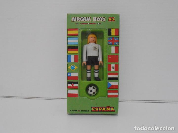 AIRGAM BOYS FUTBOLISTA EN CAJA ORIGINAL SIN JUGAR, ALEMANIA REF , AIRGAMBOYS, MADE IN SPAIN (Juguetes - Figuras de Acción - Airgam Boys)