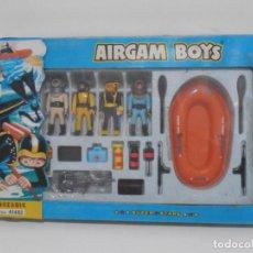 Airgam Boys: AIRGAM BOYS, CAJA REF 41482, 2 HOMBRES RANA, 2 BUZOS CON BALSA AIRGAMBOYS, SERIE OCEANIC. Lote 194187382