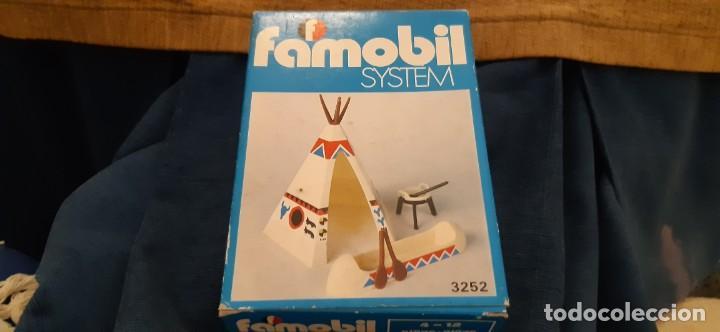 FAMOBIL SYSTEM FAMOSA TIENDA TIPI INDIA Y CANOA AÑO 1975. LEER (Juguetes - Figuras de Acción - Airgam Boys)