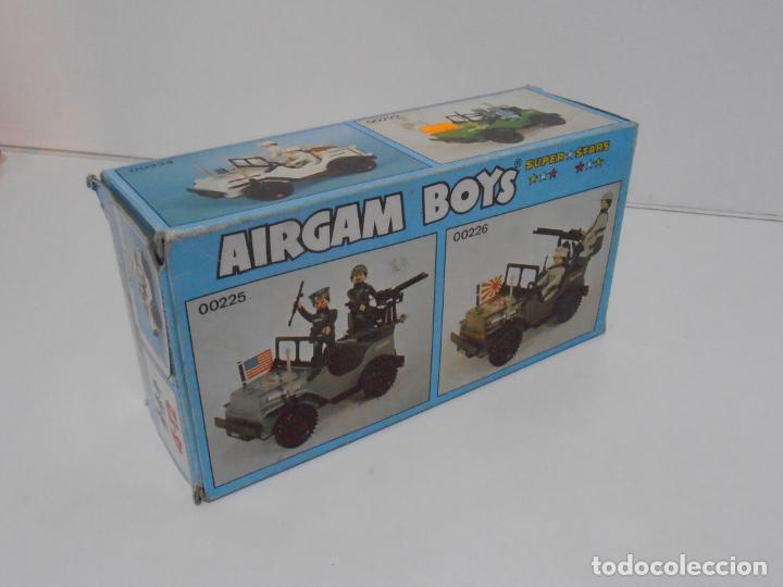 CAJA VACIA AIRGAMBOYS, JEEP BLANCO REF 00224, AIRGAM BOYS, SERIE SPACE (Juguetes - Figuras de Acción - Airgam Boys)