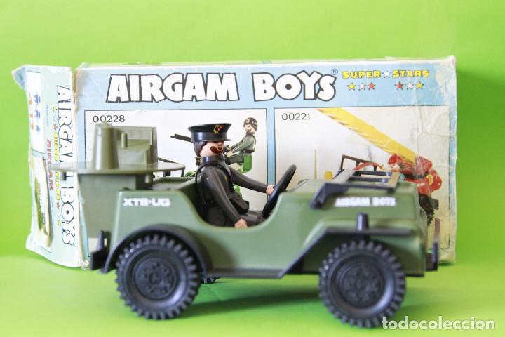 AIRGAMBOYS JEEP ALEMAN CON CAPITÁN Y CAJA (Juguetes - Figuras de Acción - Airgam Boys)