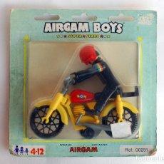 Airgam Boys: MOTOCICLISTA AIRGAMBOYS - AIRGAM BOYS EN BLISTER, SERIE SUPER STARS, REF. 00251. Lote 205529693