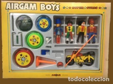 AIRGAMBOYS AIRGAM CIRCUS SUPER STARS NUEVO EN CAJA. REF 33402.DOMADOR, PAYASO, MOTO (Juguetes - Figuras de Acción - Airgam Boys)