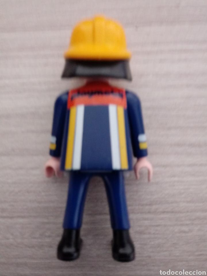 Airgam Boys: Bombero geobra 1997.Playmobil en su espalda. - Foto 2 - 254221640
