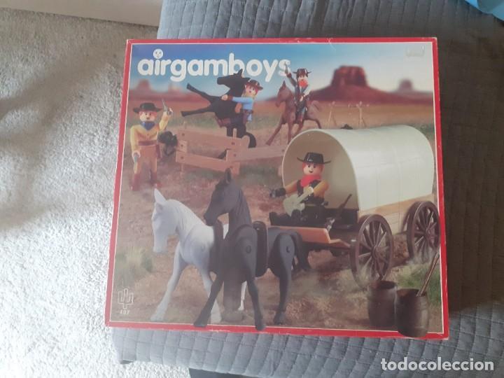 AIRGAM BOYS SERIE OESTE. NUEVA GENERACIÓN. VAQUEROS CON CARRETA REF. 407 (Juguetes - Figuras de Acción - Airgam Boys)
