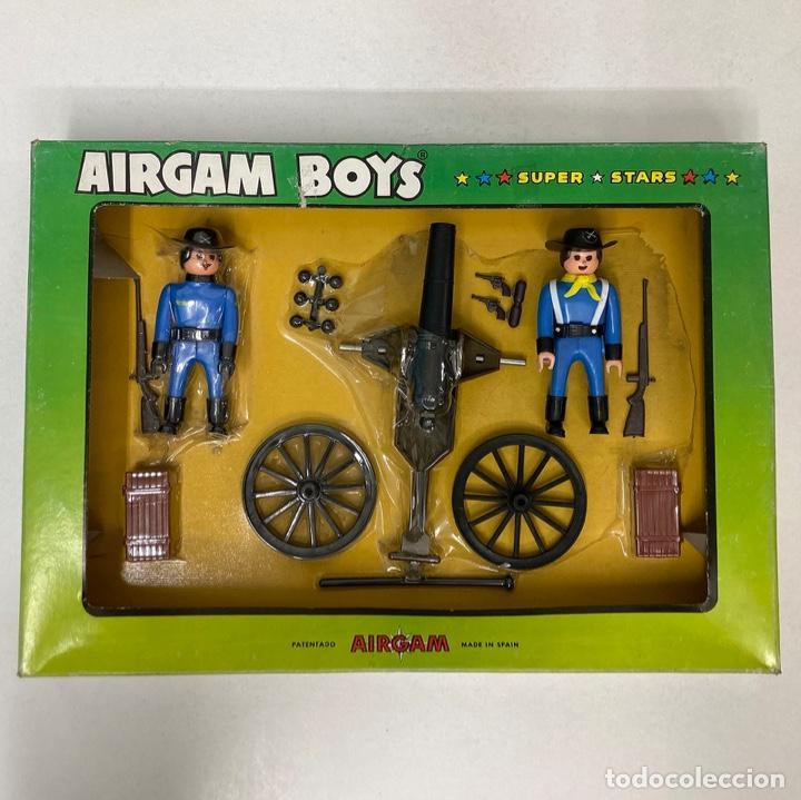 AIRGAM BOYS REF 03211 CAPITÁN Y SOLDADO WASHINGTON CON CAÑÓN. NUEVO. AÑO 1978. A ESTRENAR. MUY RARO. (Juguetes - Figuras de Acción - Airgam Boys)
