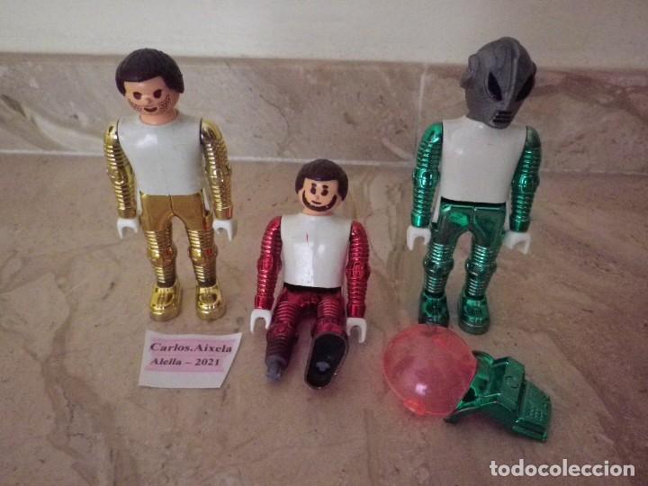 LOTE 3 AIRGAM BOYS SERIE ESPACIO METALIZADOS DE PRICIPIO DE LOS 80 AIRGAMBOYS ORIGINALES (Juguetes - Figuras de Acción - Airgam Boys)