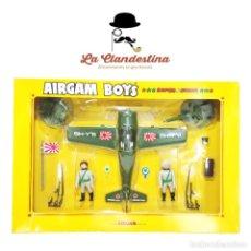 Airgam Boys: ESPECTACULAR CAJA DE AIRGAM BOYS. PILOTOS JAPONESES. SIN ABRIR. REF. 263. AÑOS 80.. Lote 290435203
