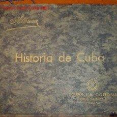 Coleccionismo Álbum: 1935.- ALBUM HISTORIA DE CUBA, 600 CROMOS-POSTALES. Lote 30686205