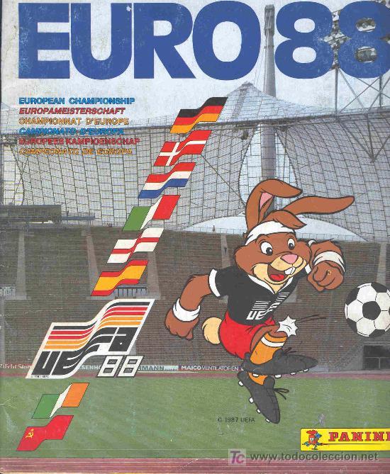 ALBUM DE CROMOS DE FUTBOL COMPLETO EUROCOPA EURO ALEMANIA 88 GERMANY 1988 segunda mano