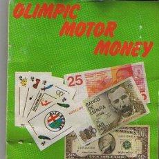 Coleccionismo Álbum: ALBUM COMPLETO OLIMPIC MOTOR MONEY. Lote 14858352