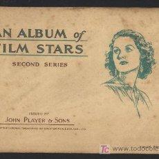 Coleccionismo Álbum: ÁLBUM COMPLETO ESTRELLAS DE CINE. SEGUNDA SERIE. EDITADO POR JOHN PLAYER, 1934.. Lote 19338540