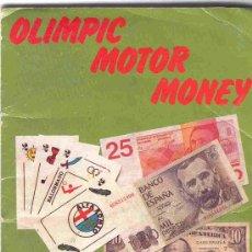 Coleccionismo Álbum: ALBUM DE CROMOS TOTALMENTE COMPLETO OLIMPIC MOTOR MONEY. Lote 23762519