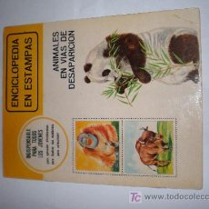 Coleccionismo Álbum: ALBUM COMPLETO ENCICLOPEDIA EN ESTAMPAS (ANIMALES EN VIAS DE DESAPARICION)AÑO 1973. Lote 22530033