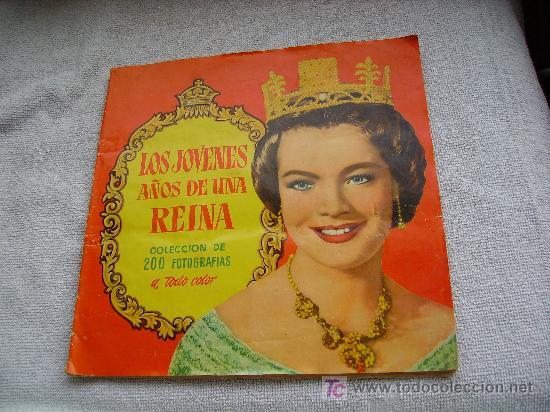LOS JOVENES AÑOS DE LA REINA (Coleccionismo - Cromos y Álbumes - Álbumes Completos)