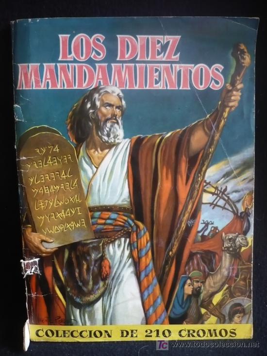 ALBUM CROMOS LOS DIEZ MANDAMIENTOS, BRUGUERA. 210 CROMOS. COMPLETO. (Coleccionismo - Cromos y Álbumes - Álbumes Completos)
