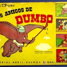 Coleccionismo Álbum: LOS AMIGOS DE DUMBO. CUADERNO PARA PINTAR 15 CUADRITOS QUE SON CROMOS COLECCIONABLES. 1948.. Lote 13368183