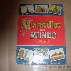 Coleccionismo Álbum: ALBUM COMPLETO MARAVILLAS DEL MUNDO (ALBUM II). Lote 27363817