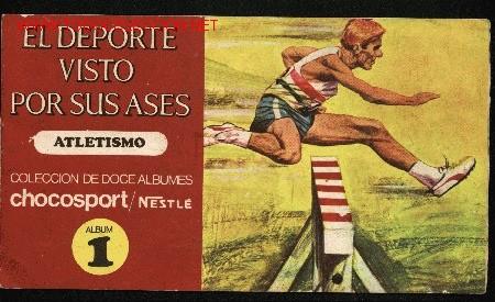 EL DEPORTE VISTO POR SUS ASES. ATLETISMO. ALBUM Nº 1. CHOCOLATES NESTLE, 1967 (Coleccionismo - Cromos y Álbumes - Álbumes Completos)