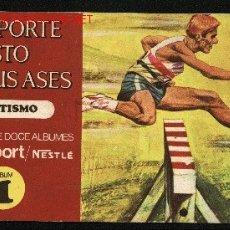 Coleccionismo Álbum: EL DEPORTE VISTO POR SUS ASES. ATLETISMO. ALBUM Nº 1. CHOCOLATES NESTLE, 1967. Lote 13368188